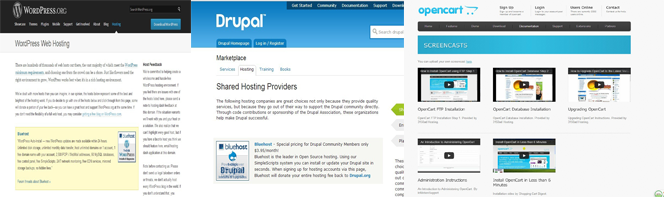recommended by drupal wordpress and opencart