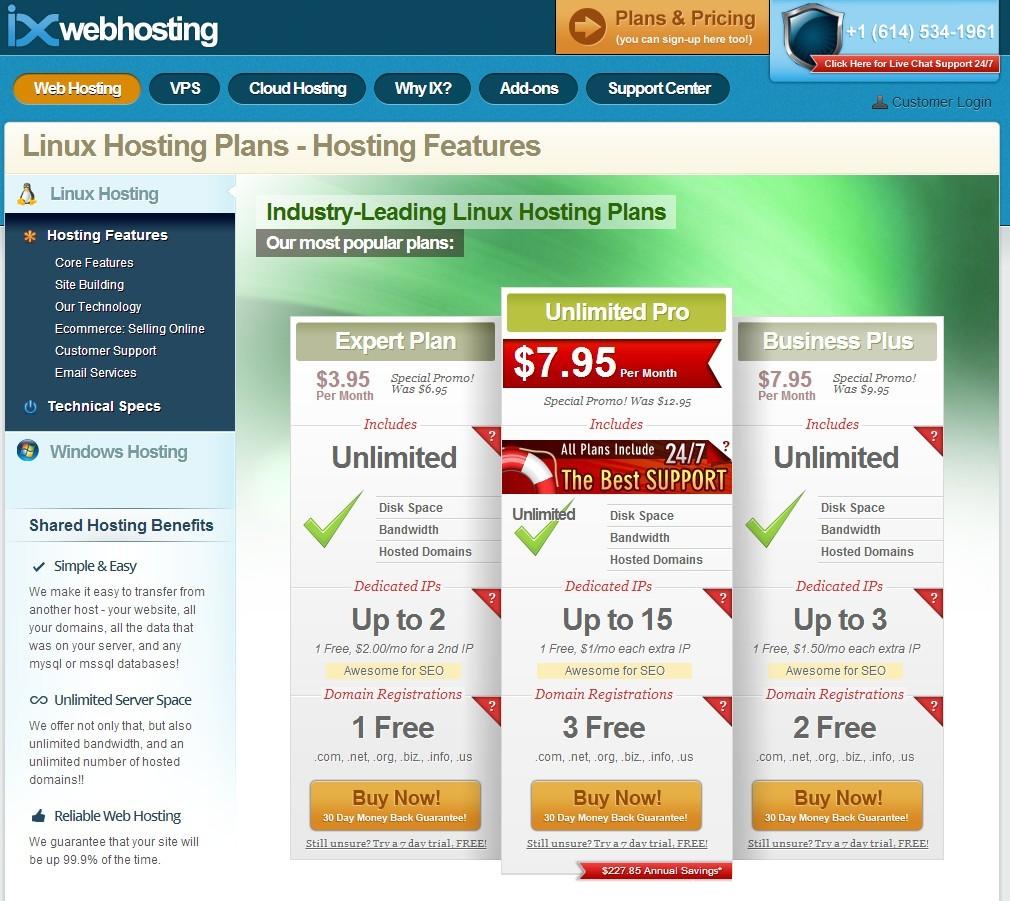 ixweb ultimate pro plan